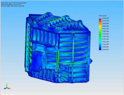 FEA Stress plot large vacuum chamber